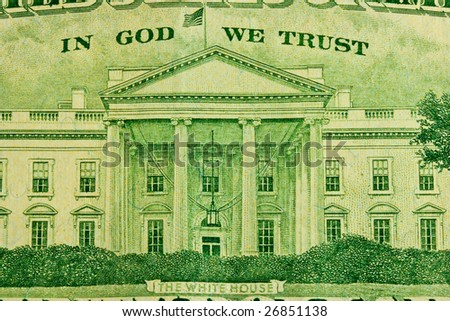 Twenty dollar bill detail - stock photo