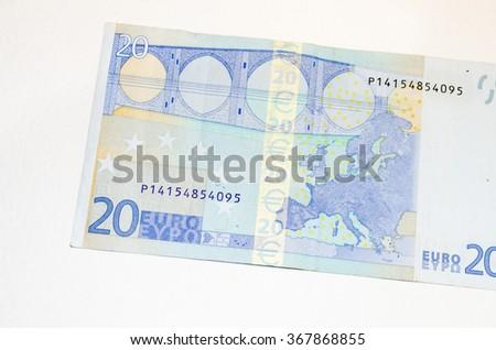 twenty euro banknote - stock photo