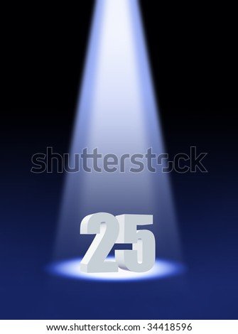 Twenty five - stock photo