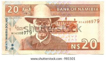 Twenty Namibian Dollars - stock photo