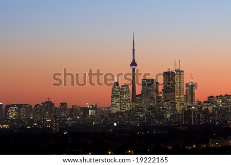 Twilight in Toronto