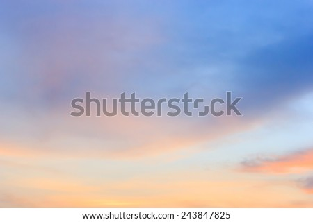 Twilight sky background - stock photo