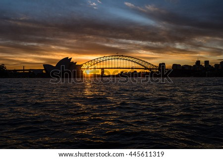 Twilight Sunset in Sydney