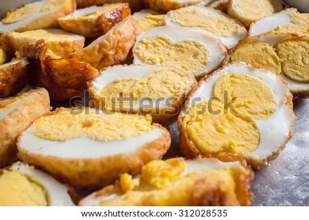 Twin fried egg - stock photo