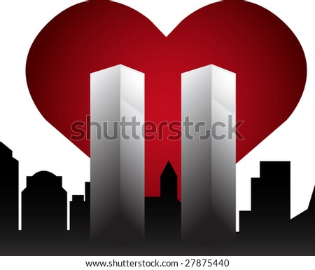 Twin Towers Memorial - stock photo