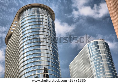 Twin Towers of Enron(Release Information: Editorial Use Only. Use of this image in advertising or for promotional purposes is prohibited.) - stock photo