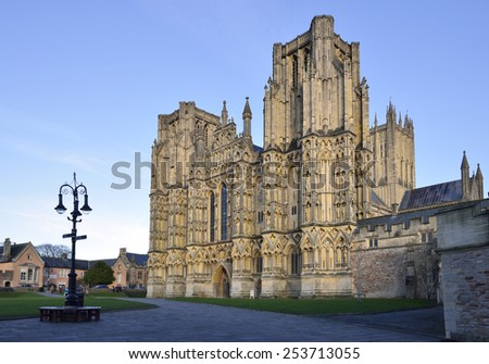 Twin Towers of the West Front of Wells Cathedral
