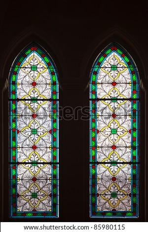 twin windows - stock photo
