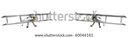 Twin winter planes - stock photo