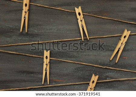 Twine and clothespins (background)