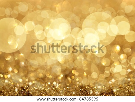 Twinkly Lights and Stars Christmas Background - stock photo