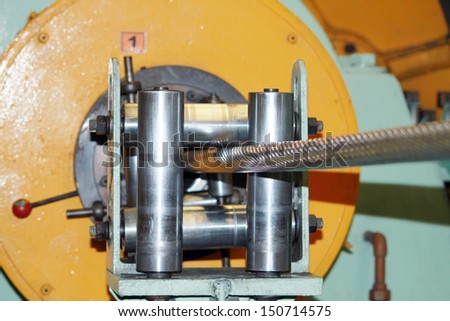 Twist machine  electrical aluminum wire - stock photo