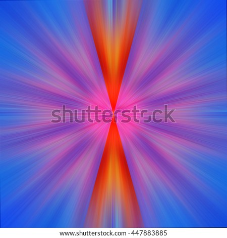 Twist twirl red orange yellow green pink purple blue violet burst star intricate details background backdrop pattern bright and vivid - stock photo