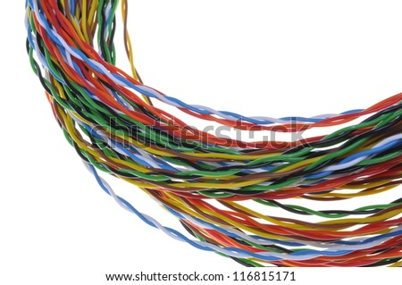 Twisted colored wires in data communication networks