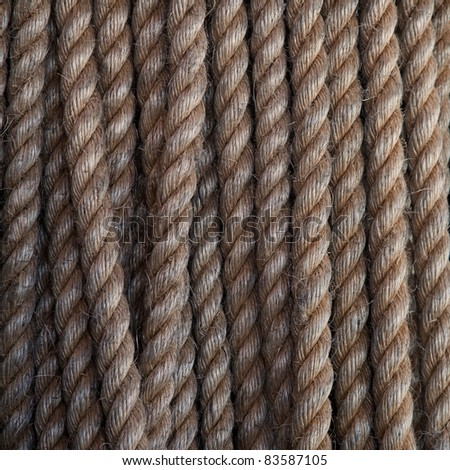 Twisted rope. Can be used as background - stock photo