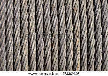 Twisted steel cable on coil