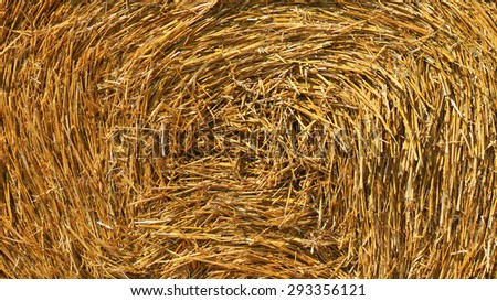 Twisted straw pattern, background - stock photo