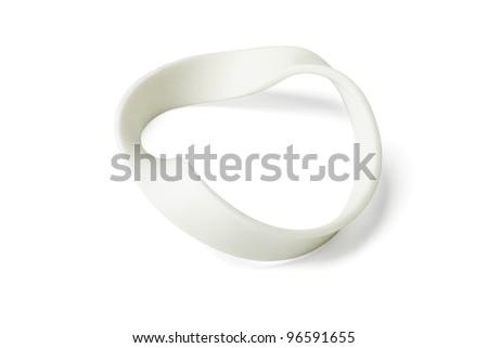 Twisted Wristband on Isolated White Background - stock photo