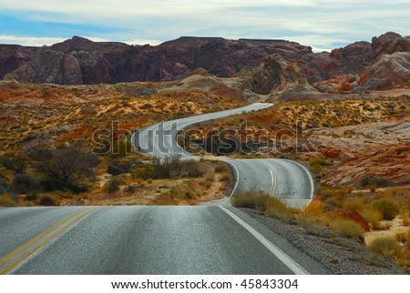 twisting road - stock photo