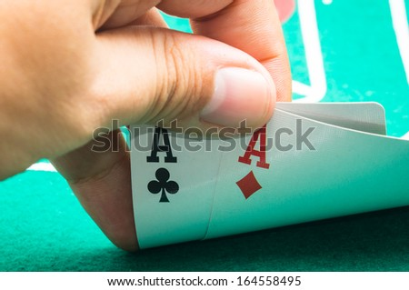 two aces - stock photo