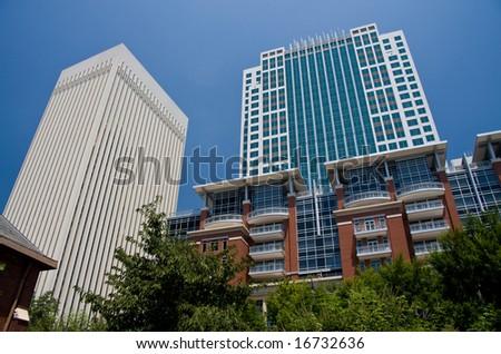 Two and Three Wachovia Center, Ratcliffe Condos - stock photo