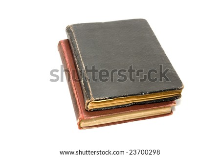 Two antique book isolated on white.