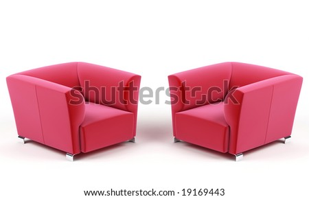 Two armchairs. - stock photo