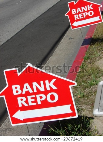 Two Bank Repo/Repossesion Signs