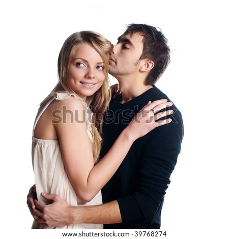 two beautiful lovers - stock photo