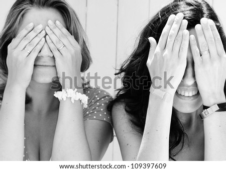 two beautiful women - stock photo