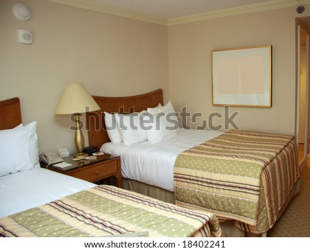 Two beds bedroom with bedside table and lamp. Twin Bed Stock Images  Royalty Free Images   Vectors   Shutterstock