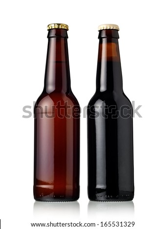 Two beer bottles - stock photo