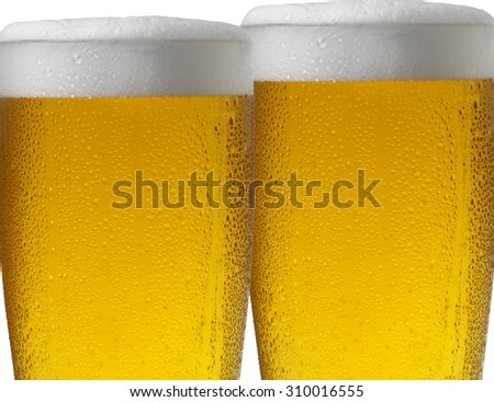 TWO BEERS - stock photo