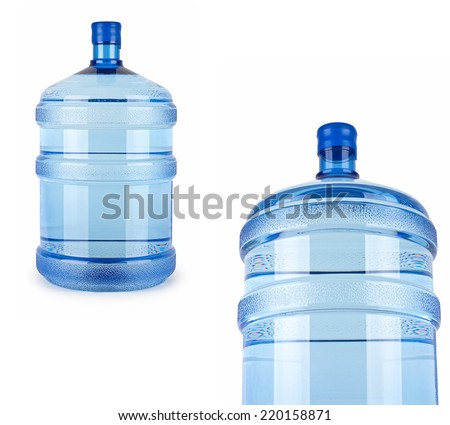 two big bottles of water for delivery - stock photo