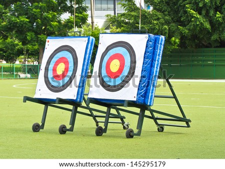 Two big targets - stock photo