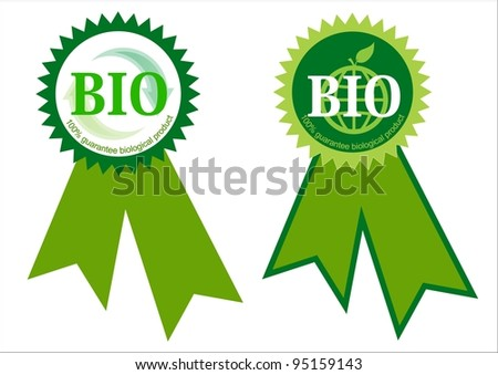 Two biological label - stock photo