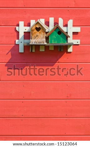 two birdhouses - stock photo