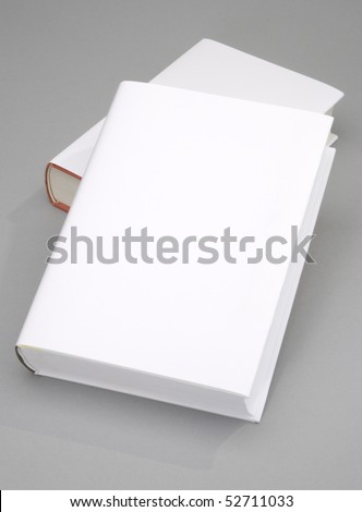 Two Blank book w white cover