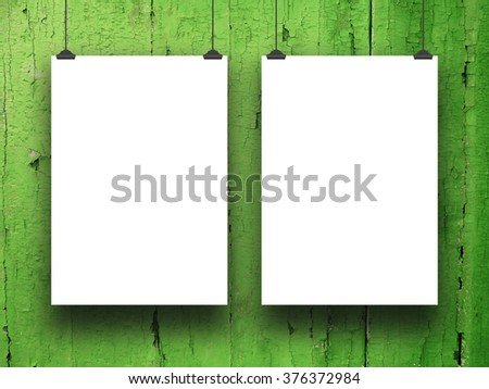 Two Blank Frames Clips On Green Stock Photo (Download Now) 376372984 ...
