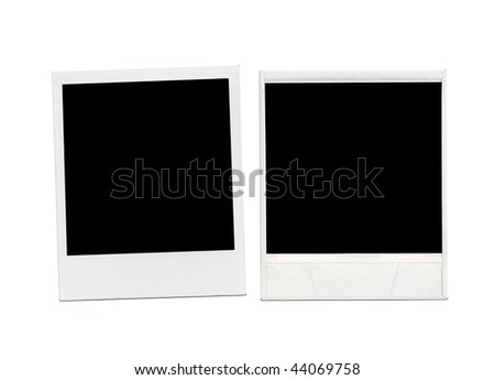 two blank pictures - back and front