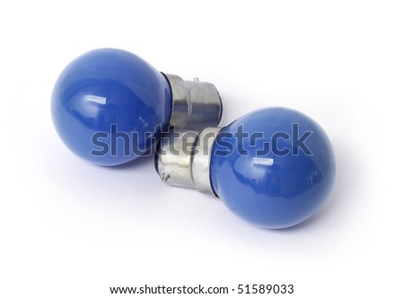 Two blue bulbs