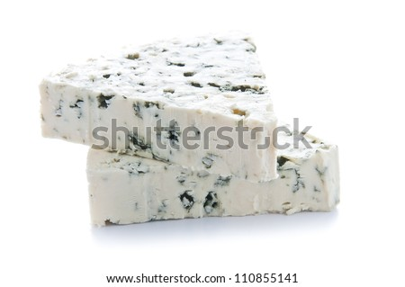 Two Blue Cheese Portions - stock photo
