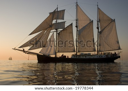 Two boats - stock photo