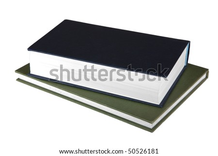 Two books on a white background
