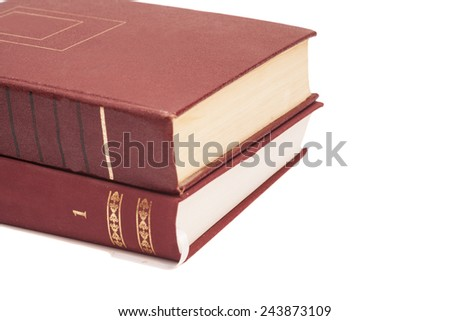Two books on white background - stock photo