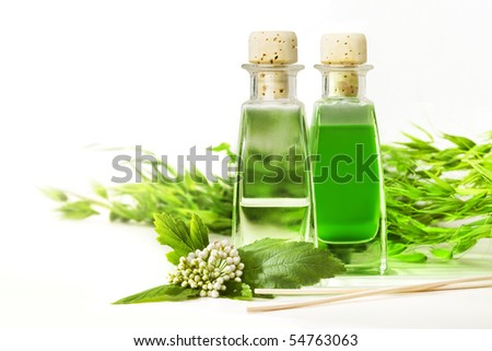 Two bottles of herbal essences - stock photo