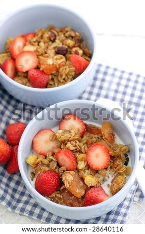 Cereal And Strawberry Stock Photos, Royalty-Free Images & Vectors ...