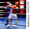Two boxers fighting at the ring - stock photo