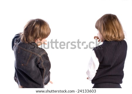 Two boys - stock photo