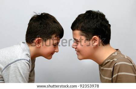 two brothers - stock photo